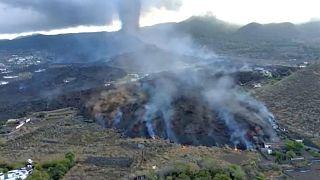 Gases emitidos por el volcán de Cumbre Vieja en La Palma