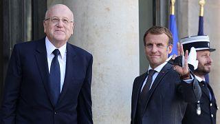 ماكرون يستقبل رئيس الوزراء اللبناني في الاليزيه