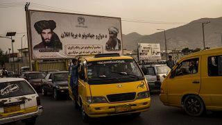 تصاویر ملا محمد عمر و جلالالدین حقانی در کابل