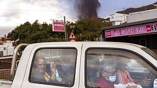 Evacuaciones en la isla de La Palma