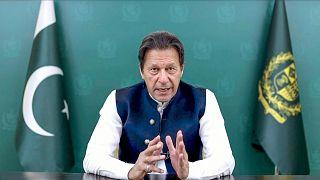 Pakistan Başbakanı İmran Han, 76. BM Genel Kurulu'na video konferans yoluyla hitap etti