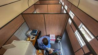 South Africa vaccine train takes doses to remote areas
