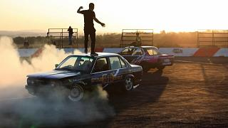 Sparks and adrenaline fly in South Africa car 'spinning'