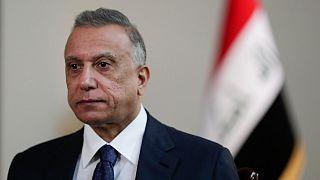 رئيس الوزراء العراقي، مصطفي الكاظمي  خلال مقابلة في بغداد، العراق