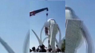 صورة مجتزأة من فيديو تم تصويره بالهاتف في هرات