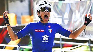 Elisa Balsamo devient championne du monde de cyclisme sur route, le 25 septembre 2021, Louvain, Belgique
