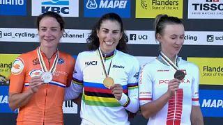 Vas Kata Blanka negyedik lett az országúti kerékpáros vb-n