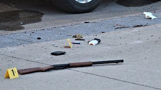 بندقية في مسرح الجريمة في الولايات المتحدة