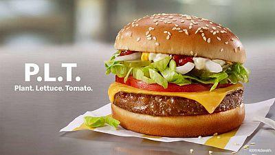 The new McPlant burger.