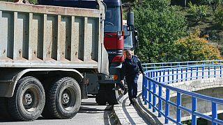 Граница Сербии и Косово 24 сентября 2021