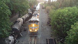 حادث قطار في بلدة موزير، الولايات المتحدة الأمريكية.
