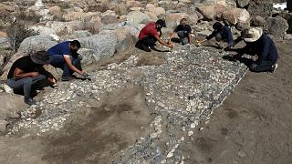 کشف سنگ فرش ۳۵۰۰ ساله چند رنگ در مرکز ترکیه