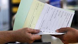 Secção de voto em Lisboa