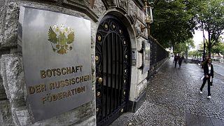Az Orosz Föderáció berlini nagykövetségének bejárata