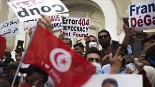 من مظاهرة سابقة (18 سبتمبر-أيلول) ضدّ قرارات قيس سعيّد