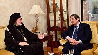 Συνάντηση του Κύπριου Προέδρου Νίκου Αναστασιάδη με τον Αρχιεπίσκοπο Αμερικής κ. Ελπιδοφόρο