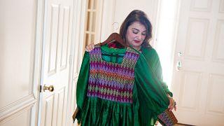 بهار جلالي، أكاديمية أفغانية في منزلها في ولاية ماريلاند  الأمريكية