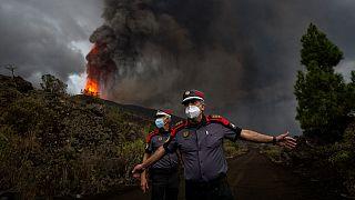 Autoridades de La Palma em operações de segurança na ilha