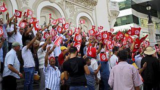 Protestos na Tunísia