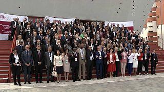 Photo de groupe des 60 ans de l'AUF, à BUcarest, Roumanie, 24 septembre 2021