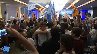 Les partisans de la coalition de droite à Lisbonne le 26 septembre 2021