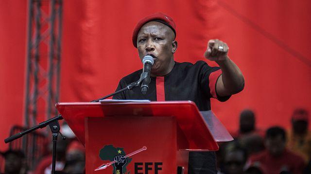 """Afrique du Sud : l'opposant Malema dénonce un gouvernement """"incapable"""""""