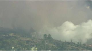 Lava from a volcano on La Palma has toppled a church