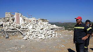 Dégâts causés par le séisme en Crète, le 27/09/2021