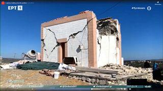 Alguns edifícios ficaram em ruínas