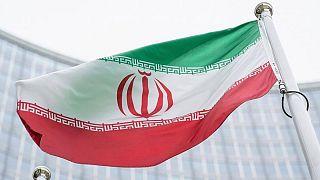 پرچم ایران در مقر آژانس بینالمللی انرژی اتمی