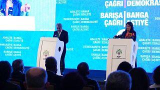 HDP deklarasyonu Pervin Buldan ve Mithat Sancar tarafından açıklandı