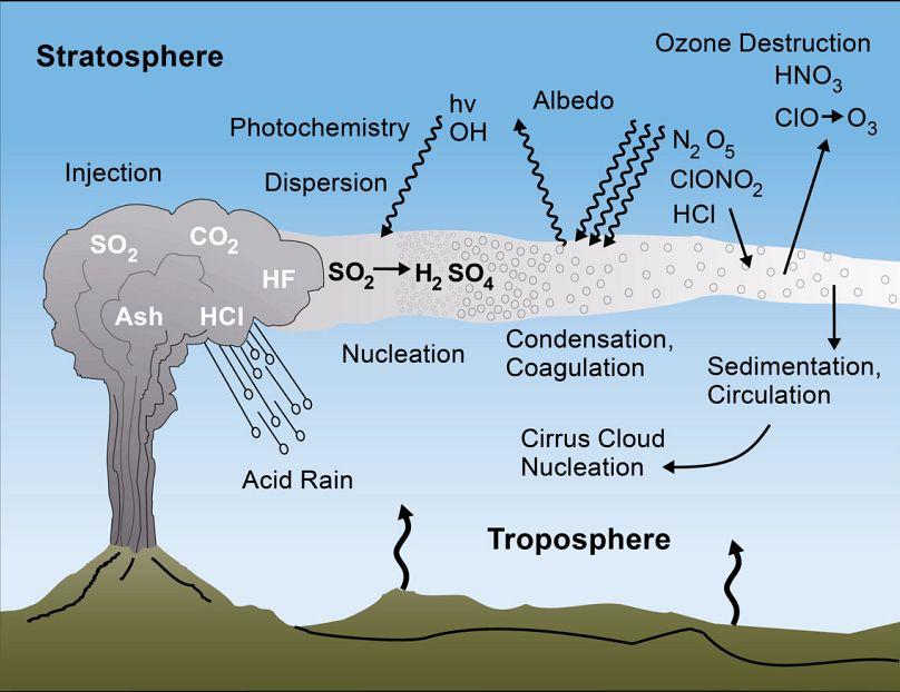 El dióxido de azufre del volcán de La Palma provocará un enfriamiento  global y otros falsos mitos | Euronews