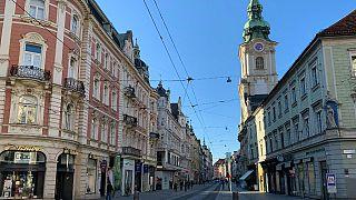 The Herrengasse is pictured in Graz.