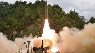 Пуск снаряда со стороны КНДР