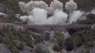 Demolizione Viadotto Cerqueta