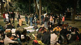 Öğrencilerin eylemi sekizinci gününde devam etti
