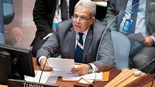 عثمان الجرندي، وزير الخارجية التونسي في خطاب على منبر الجمعية العامة للأمم المتّحدة