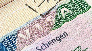 تأشيرة سفر شنغن فرنسية.