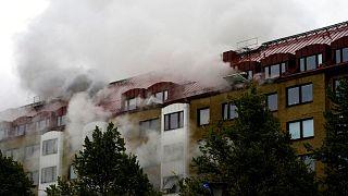 آتشسوزی در مرکز گوتنبرگ، سوئد