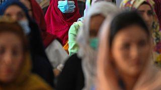 نساء أفغانيات في كابول