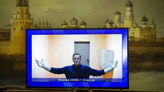 Алексей Навальный участвует по видеосвязи из СИЗО в судебных слушаниях в Москве. 28 января 2021