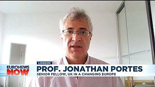 Professor Jonathan Portes on Euronews Now.