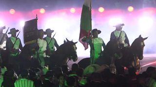 Imagen de una de las recreaciones históricas que tuvieron lugar en el Zócalo de Ciudad de México el 27 de septiembre de 2021