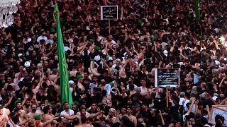 Pilgrims commemorate Arbaeen in Karbala