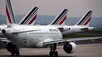 Planes on the runway at Paris Charles de Gaulle