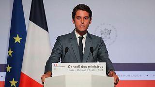 عکس آرشیوی از گابریل آتال، سخنگوی دولت فرانسه