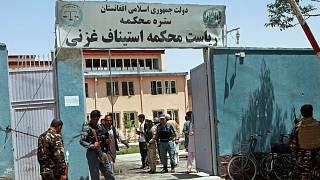 the gate of Ghazni's court building