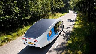 A solar-powered camper that can travel up to 730 kilometers on self-generated electricity.