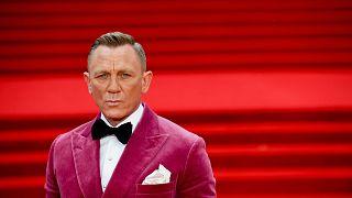 Daniel Craig attending his last world premiere as James Bond tonight in London, UK