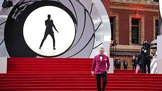 """L'acteur britannique Daniel Craig, qui incarne le personnage de James Bond dans """"Mourir peut attendre"""", à Londres le 28/09/2021"""